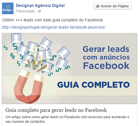 Gerar leads com anúncios Facebook