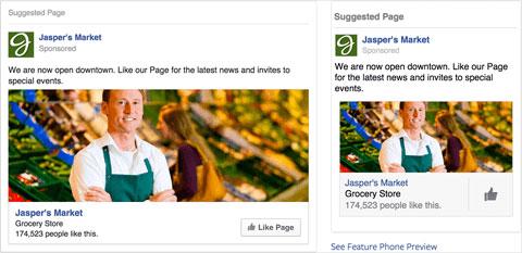 Anúncio Facebook com homem do Jaspet's market