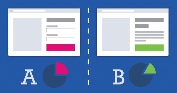 Landing page testes A/B