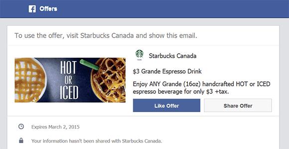 Oferta Starbucks