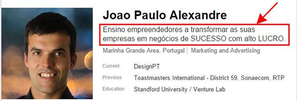 Tagline de perfil LinkedIn