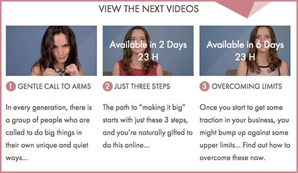3 vídeos lançamento produto Nathalie Lussier