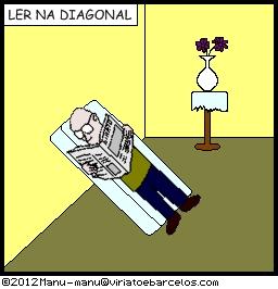 Ler na diagonal