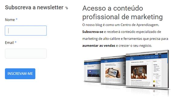 Subscrição newsletter DesignPT