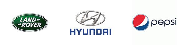 Logótipos Land Rover Hyundai Pepsi