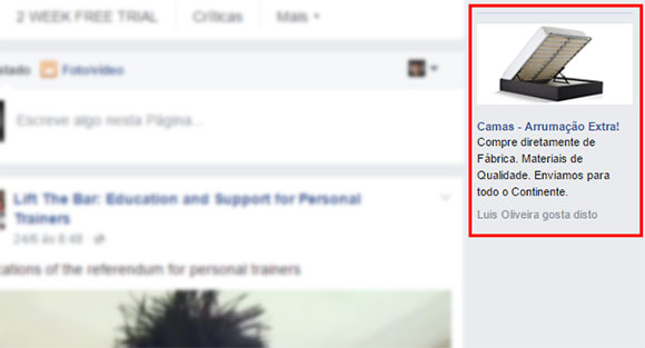 anuncio facebook sidebar