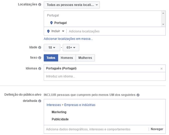 Dados demograficos facebook