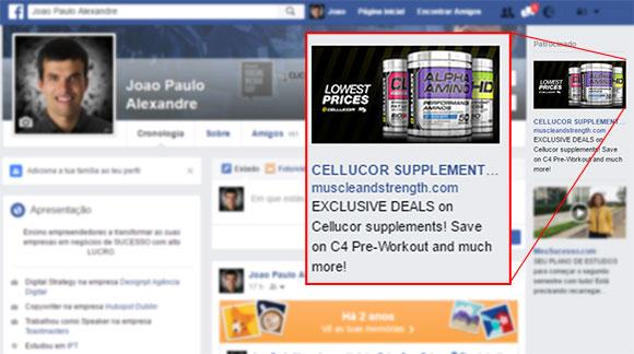 Exemplo de anúncio re-targeting (já estive neste website a ver este produto)