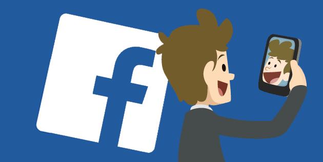 Facebook Live vector boneco