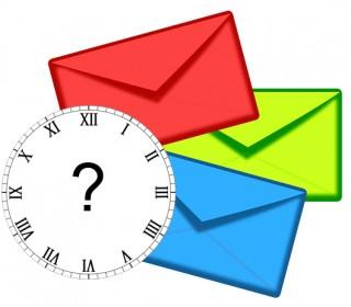 Frequência de envio de emails