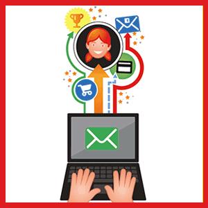 Portátil com icone de email