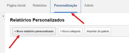 Relatório personalizado Google Analytics