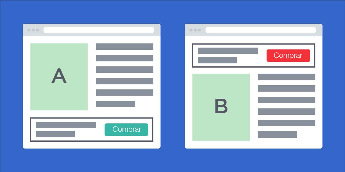 Landing page ou newsletter com testes A/B