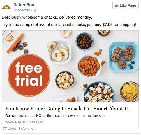Anuncio Naturebox free trial