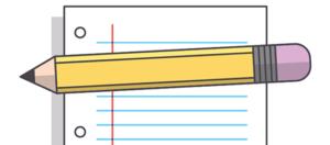 Lápis e folha