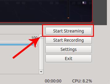 Start streaming no OBS Studio