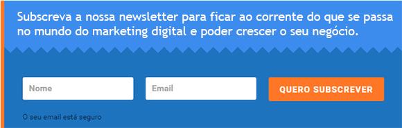 Exemplo de formulário mailchimp