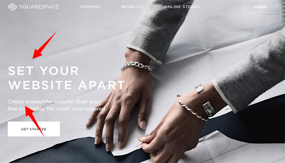Homepage Squarespace