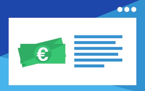 Nota de euro e sales page