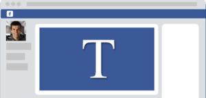 Browser anúncio Facebook letra T