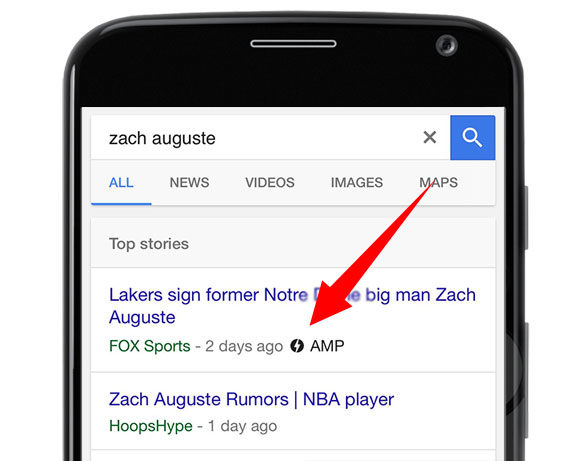 AMP são Accelerated Mobile Pages