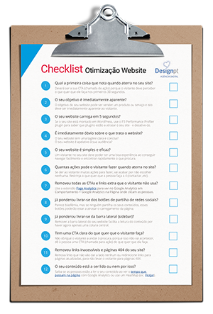 Checklist Otimizacao Website