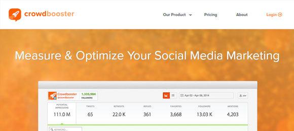 Crowdbooster ferramenta rede social