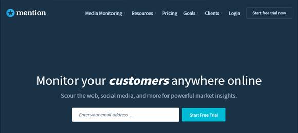 Mention ferramenta rede social