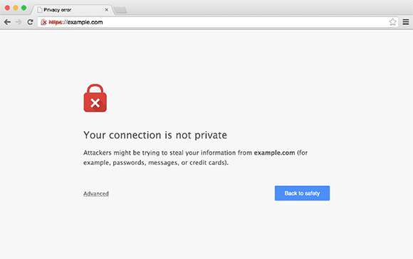 Connection not private google