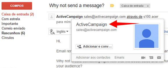 Email da newsletter da ActiveCampaign
