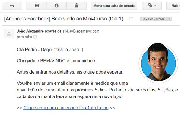 Email boas vindas