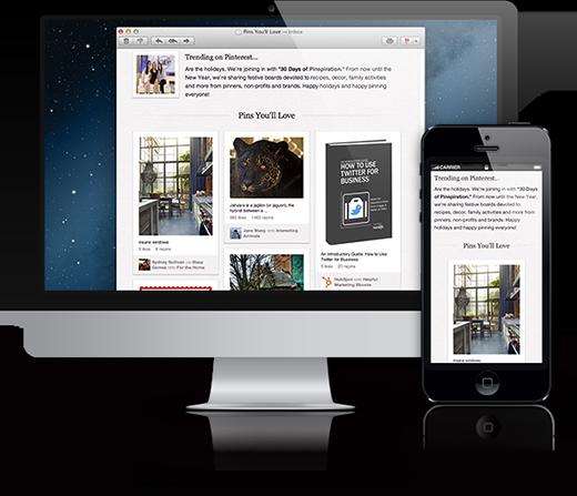 Email em desktop e mobile