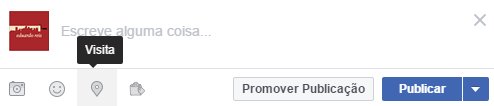 "Adicionar ""visita"" num post Facebook"