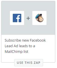Facebook + MailChimp