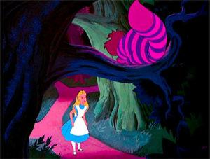 Alice e o gato Chestire