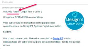 Personalização no email