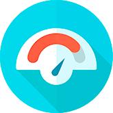 ícone velocidade medição