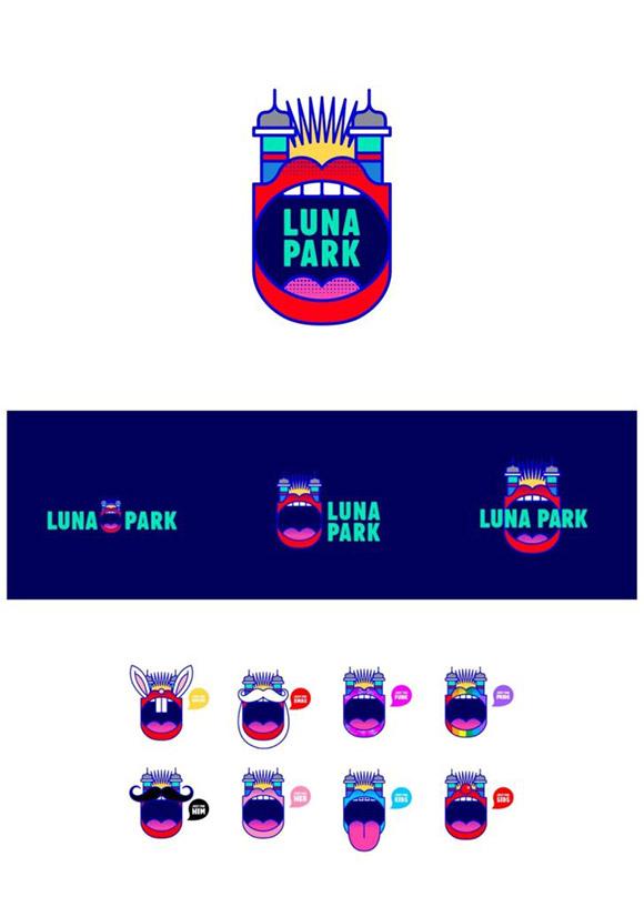 Exemplo de um logotipo divertido e animado.