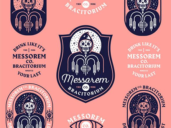 Exemplo de um logotipo que é um emblema.