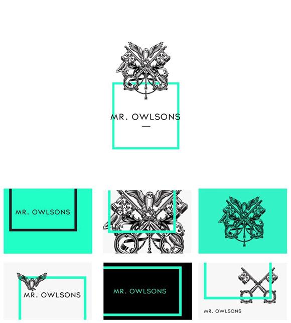 Exemplo de um logótipo detalhado.