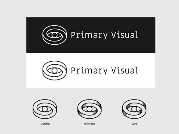 Exemplo de um logótipo com ilusão ótica.