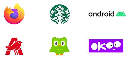 Mascotes uma das tendências de design de logótipos para 2020