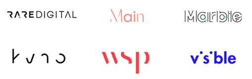 Texto invisível uma das tendências de design de logótipos para 2020