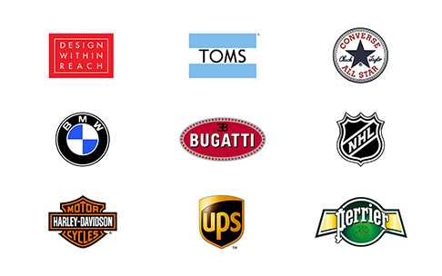 exemplos tipos de logotipos com emblema