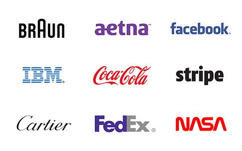 exemplos tipos de logotipos wordmarks